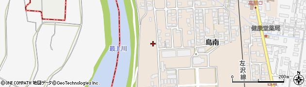 山形県寒河江市島島南348周辺の地図