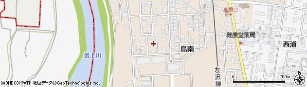 山形県寒河江市島島南399周辺の地図