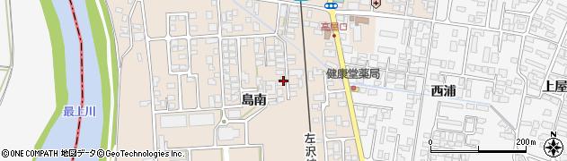 山形県寒河江市島419周辺の地図