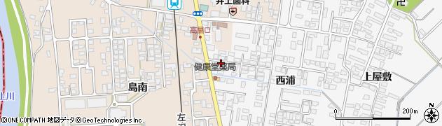 山形県寒河江市高屋西浦216周辺の地図