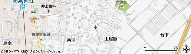 山形県寒河江市高屋西浦70周辺の地図