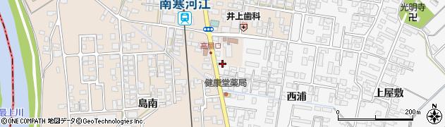 山形県寒河江市高屋西浦208周辺の地図