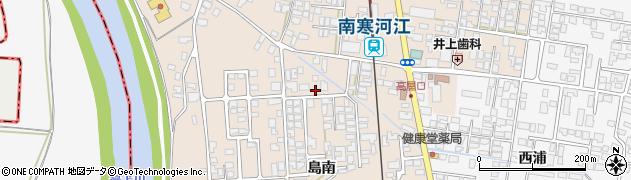 山形県寒河江市島309周辺の地図