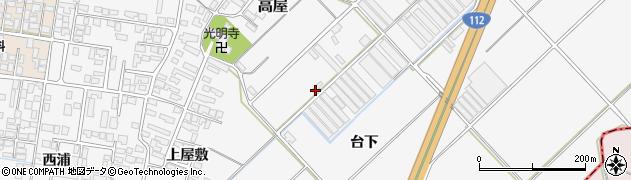 山形県寒河江市高屋台下880周辺の地図