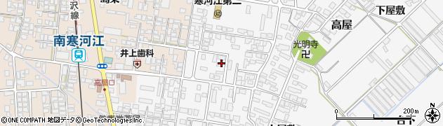 山形県寒河江市高屋西浦52周辺の地図