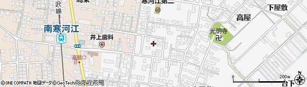 山形県寒河江市高屋西浦55周辺の地図