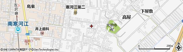 山形県寒河江市高屋西浦37周辺の地図