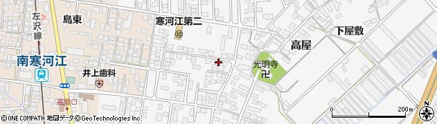 山形県寒河江市高屋西浦35周辺の地図