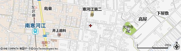 山形県寒河江市高屋西浦29周辺の地図