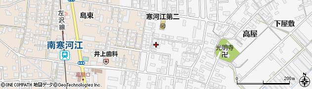 山形県寒河江市高屋西浦27周辺の地図