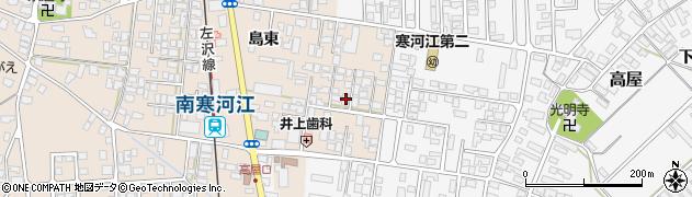 山形県寒河江市島島東209周辺の地図