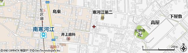 山形県寒河江市高屋西浦26周辺の地図