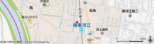 山形県寒河江市島島東23周辺の地図