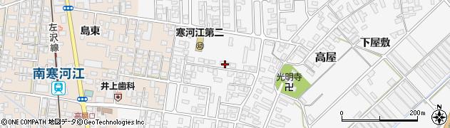 山形県寒河江市高屋西浦34周辺の地図