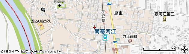 山形県寒河江市島周辺の地図