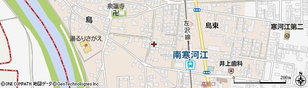 山形県寒河江市島36周辺の地図