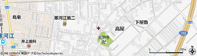 山形県寒河江市高屋西浦6周辺の地図