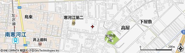 山形県寒河江市高屋西浦3周辺の地図