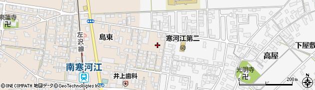 山形県寒河江市島島東202周辺の地図