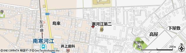 山形県寒河江市高屋西浦24周辺の地図