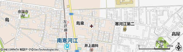 山形県寒河江市島166周辺の地図