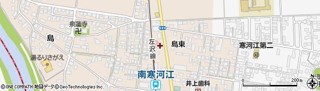山形県寒河江市島74周辺の地図