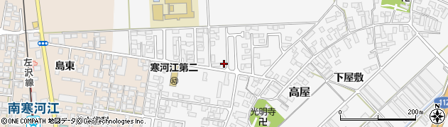 山形県寒河江市高屋北江73-4周辺の地図