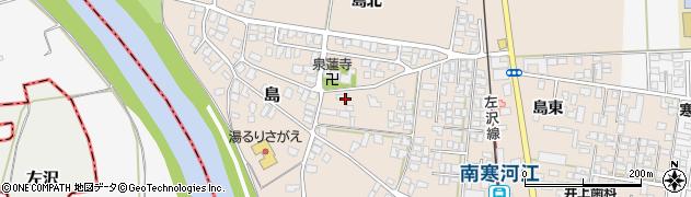山形県寒河江市島172周辺の地図