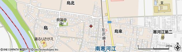 山形県寒河江市島島東6周辺の地図
