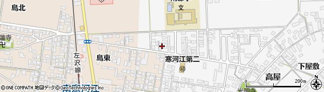 山形県寒河江市高屋北江17周辺の地図