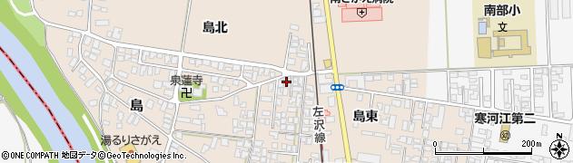 山形県寒河江市島島東4周辺の地図