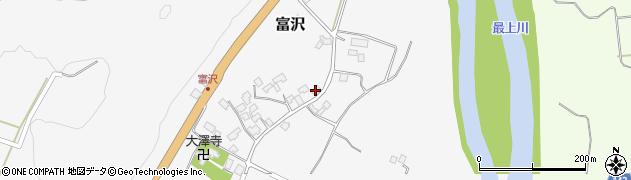 山形県西村山郡大江町富沢77周辺の地図