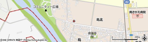山形県寒河江市島135周辺の地図