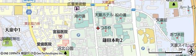 山形県天童市鎌田本町周辺の地図