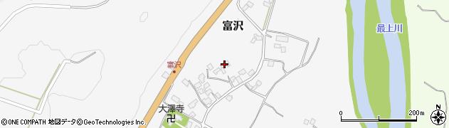 山形県西村山郡大江町富沢97周辺の地図