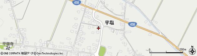 山形県寒河江市平塩352周辺の地図