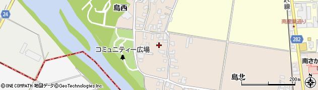山形県寒河江市島44周辺の地図