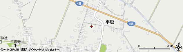 山形県寒河江市平塩351周辺の地図