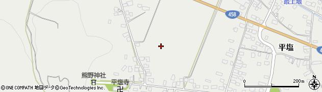 山形県寒河江市平塩内田周辺の地図