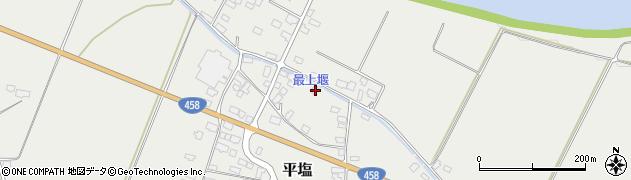 山形県寒河江市平塩391周辺の地図