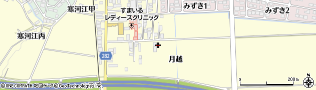 山形県寒河江市寒河江月越32周辺の地図