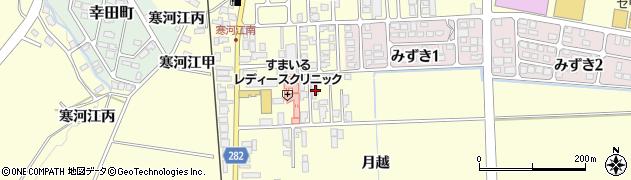 山形県寒河江市寒河江月越8周辺の地図