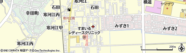 山形県寒河江市寒河江石田57周辺の地図