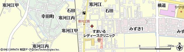 山形県寒河江市寒河江石田53周辺の地図
