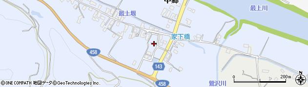 山形県寒河江市中郷446周辺の地図