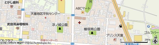 山形県天童市糠塚周辺の地図