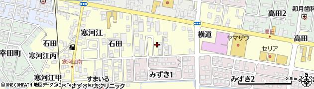 山形県寒河江市寒河江横道20周辺の地図