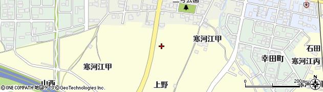 山形県寒河江市寒河江上野周辺の地図