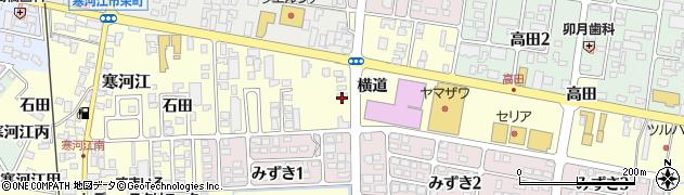 山形県寒河江市寒河江横道27周辺の地図