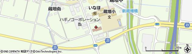 山形県天童市蔵増南周辺の地図